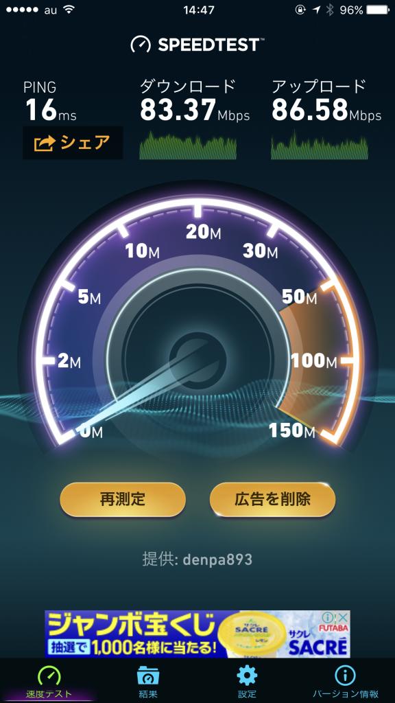 コワーキングスペースのネットワークのスピード