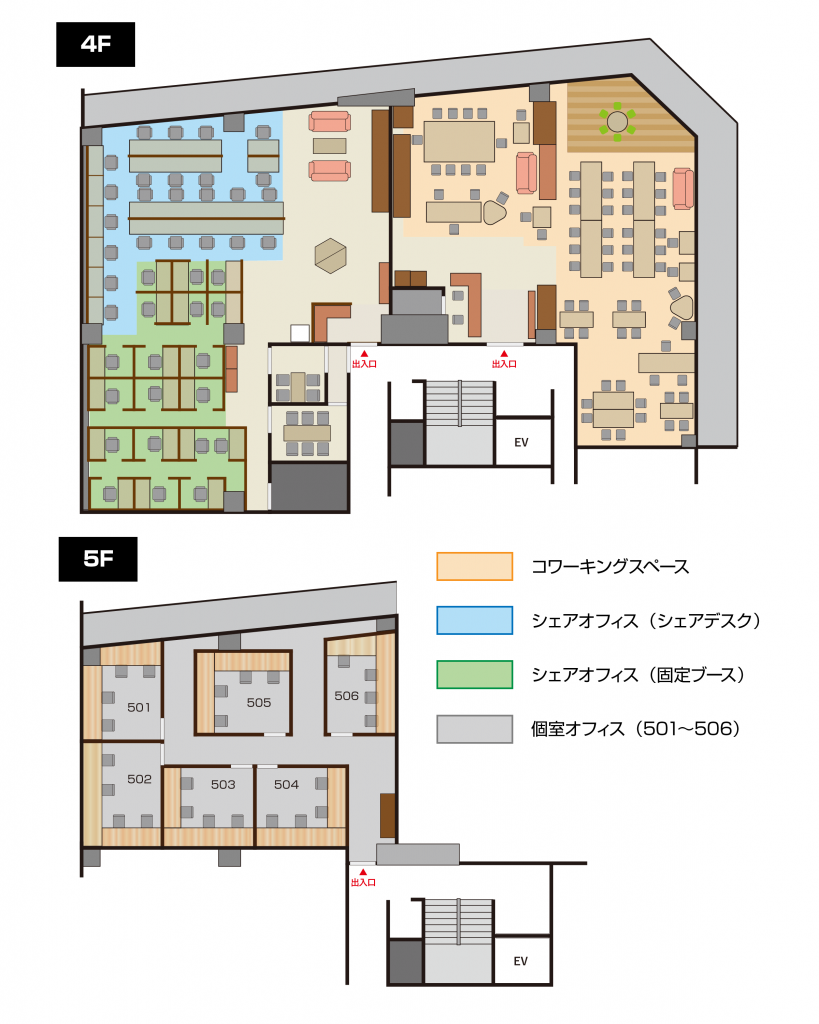 CASE Shinjukuのレイアウト図
