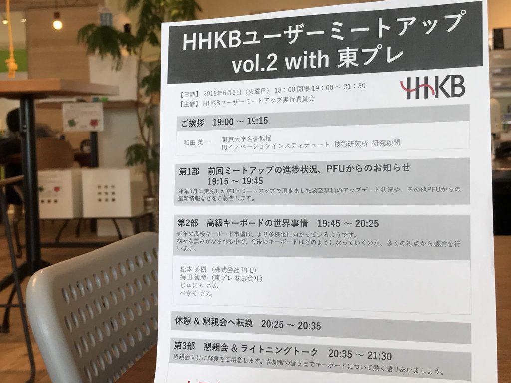 「HHKBユーザーミートアップ vol.2 with 東プレ」の内容